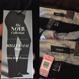 Torrid size 14R  slim boot black trouser